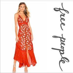 NWT Free People Paradise Printed Maxi Dress | S